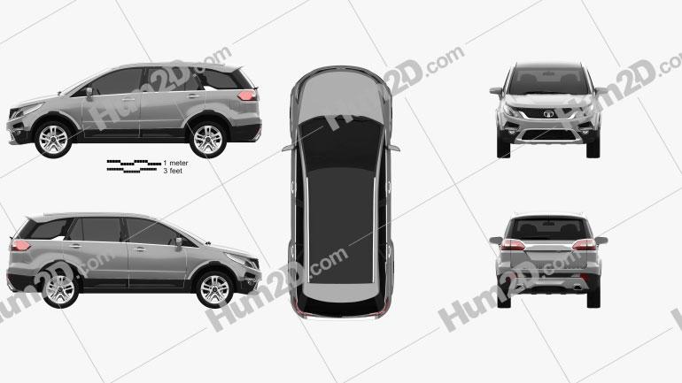 Tata Hexa 2016 car clipart