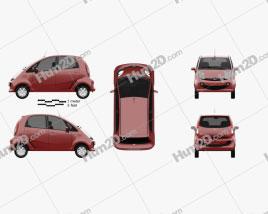 Tata Nano GenX 2015 car clipart
