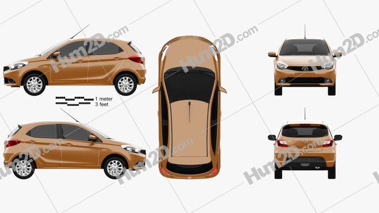 Tata Zica 2016 car clipart