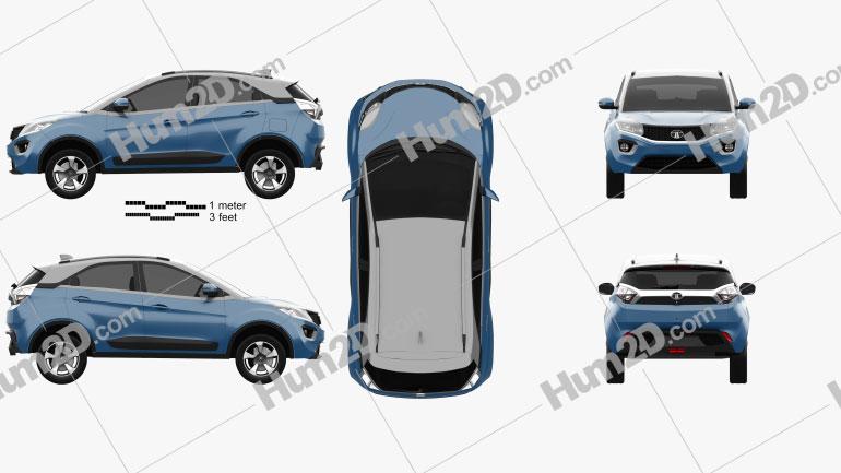 Tata Nexon 2016 car clipart