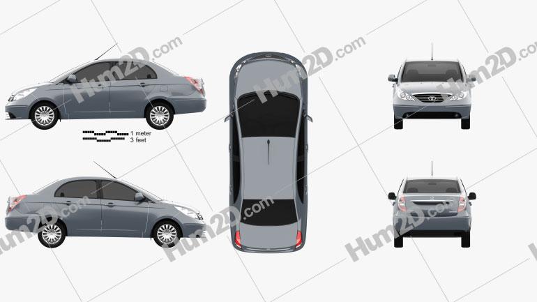 Tata Manza 2010 car clipart