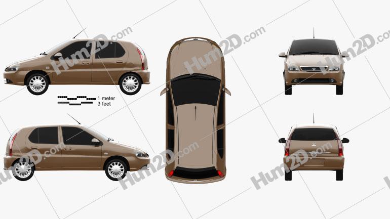 Tata Indica 2017 car clipart