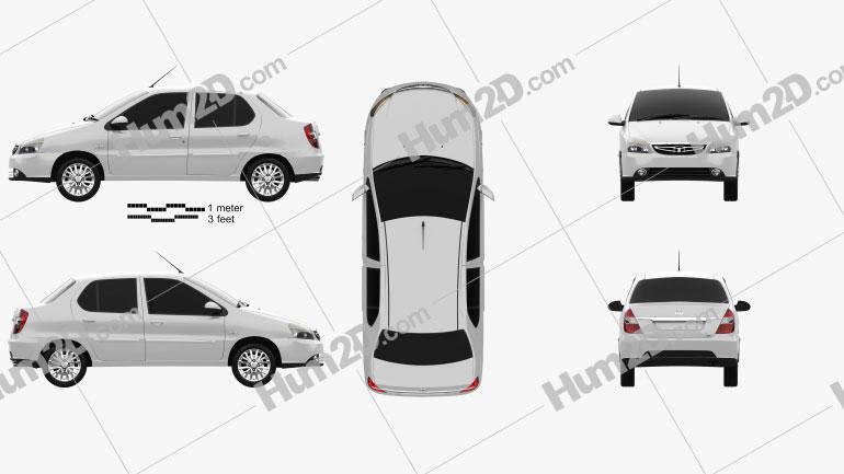 Tata Indigo 2017 car clipart