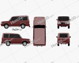 Tata Sumo Gold 2017 car clipart