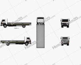 Tata LPT 1518 Flatbed Truck 2019 clipart