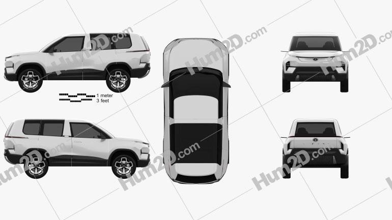 Tata Sierra 2020 car clipart
