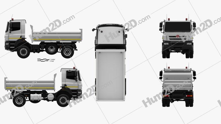 Tatra Phoenix Tipper Truck 2011 Clipart Image