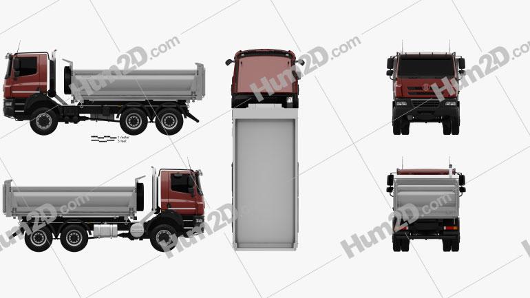 Tatra Phoenix Tipper Truck 3-axle 2011 Clipart Image