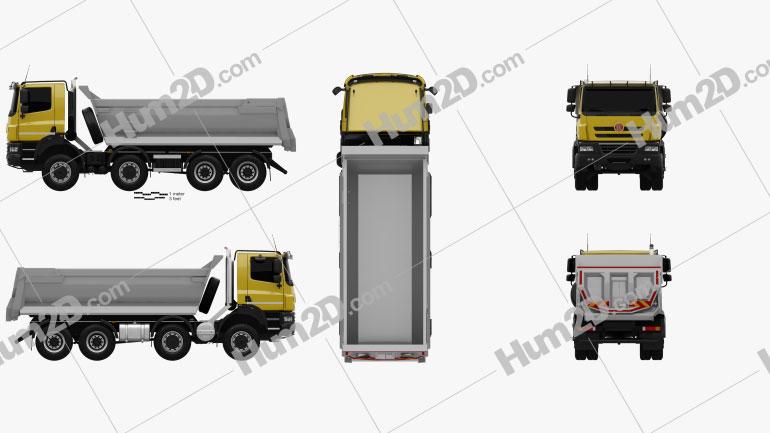 Tatra Phoenix Tipper Truck 4-axle 2011 clipart