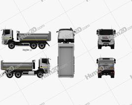 Tatra Phoenix T158 Tipper Truck 3-axle 2014 clipart