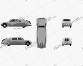 Tatra 77a 1937 car clipart