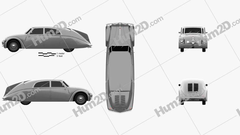 Tatra 77a 1937 Clipart Image