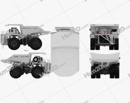 Terex Unit Rig MT6300 AC Dump Truck 2008