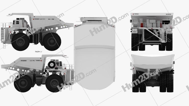 Terex Unit Rig MT6300 AC Dump Truck 2008 Clipart Image