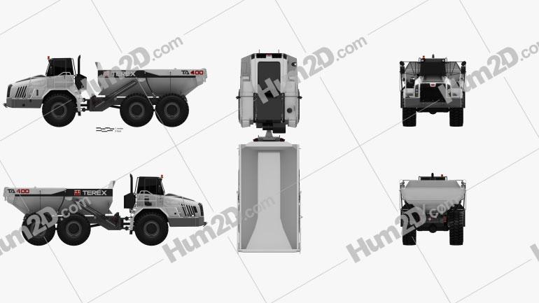 Terex TA400 Dump Truck 2011 Clipart Image
