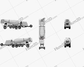 Terex FDB 6000 Mixer Truck 2018 Clipart