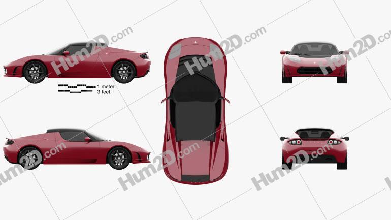Tesla Roadster 2011 Clipart Image