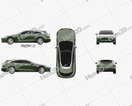 Tesla Model S Remetz Car Shooting Brake 2018 Clipart