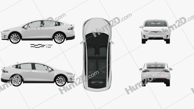 Tesla model X com interior HQ 2016 car clipart