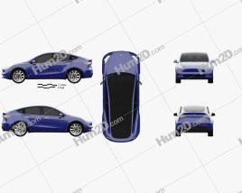 Tesla Model Y 2021 car clipart