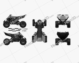 Tesla Cyberquad ATV 2019 clipart