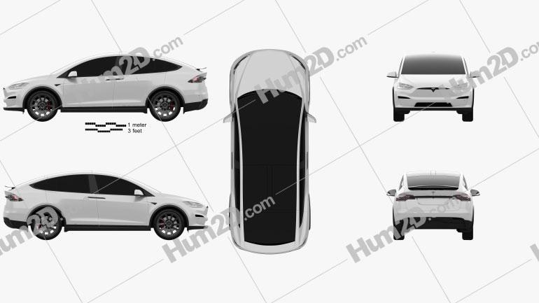 Tesla Model X 2021 car clipart