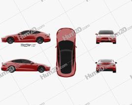 Tesla Model S Plaid 2021 car clipart