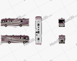 Tiffin Allegro Bus 2017 clipart