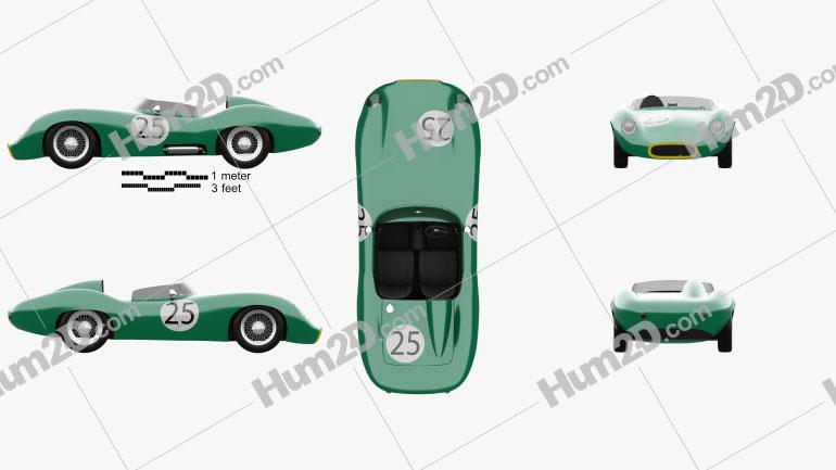 Tojeiro Climax 1958 car clipart