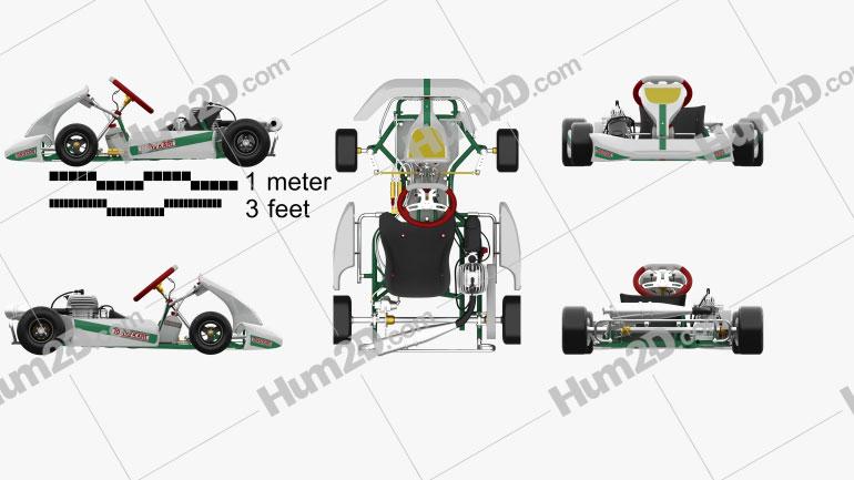 Tony Kart Rocky EXP 2014 car clipart
