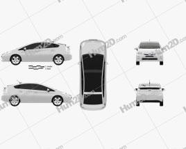 Toyota Prius 2010 car clipart