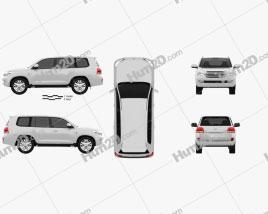 Toyota Land Cruiser 2010 car clipart