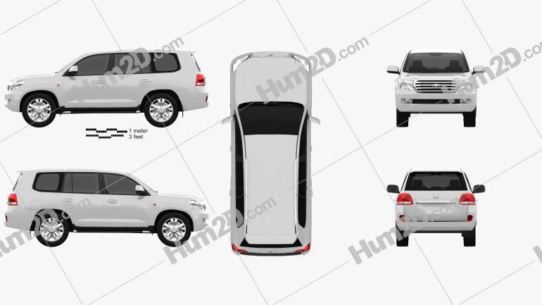 Toyota Land Cruiser 2010 Clipart Image