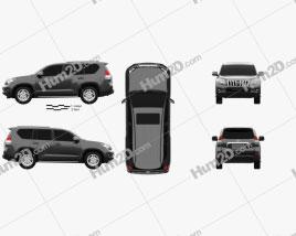Toyota Land Cruiser Prado 5-door 2010 car clipart