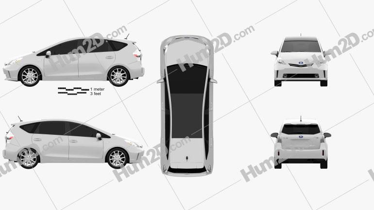 Toyota Prius V car clipart