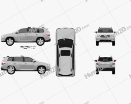 Toyota Highlander 2011 car clipart