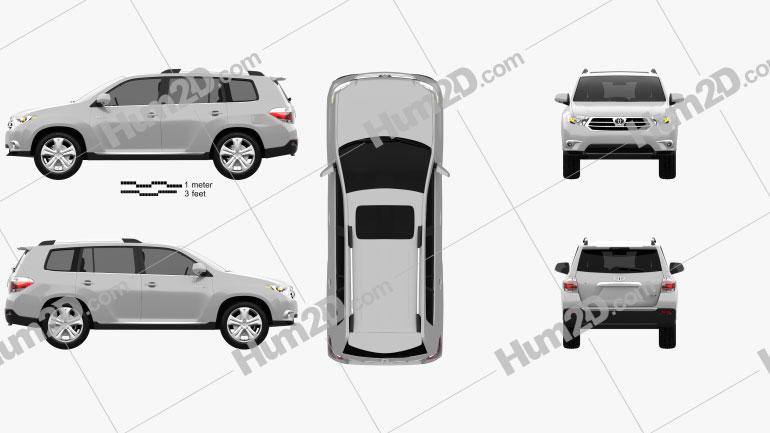 Toyota Highlander 2011 Clipart Bild