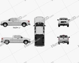 Toyota Tundra Double Cab 2011 car clipart