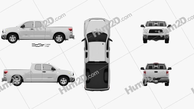 Toyota Tundra Doppelkabine 2011 Clipart Bild