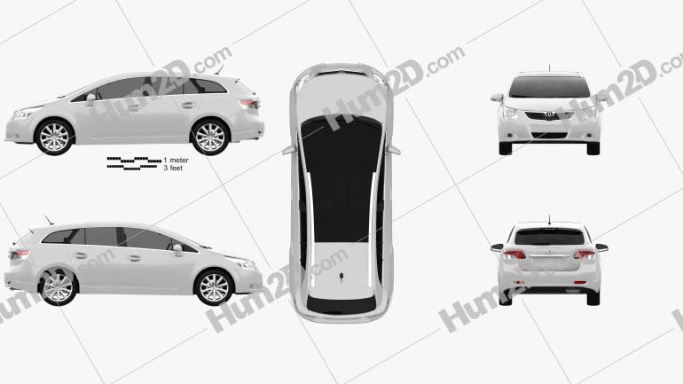 Toyota Avensis Tourer 2009 car clipart
