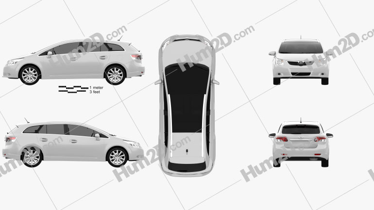 Toyota Avensis Tourer 2009 Clipart Image