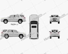 Toyota 4Runner 2011 car clipart