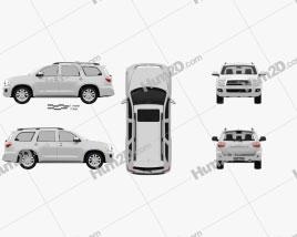 Toyota Sequoia 2011 car clipart
