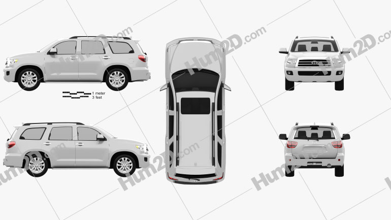 Toyota Sequoia 2011 Clipart Image