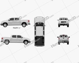 Toyota Tundra Crew Max 2011 car clipart