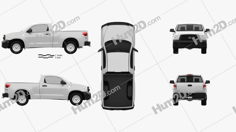 Toyota Tundra Regular Cab 2011 car clipart