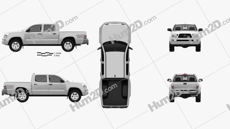 Toyota Tacoma Double Cab 2011 car clipart