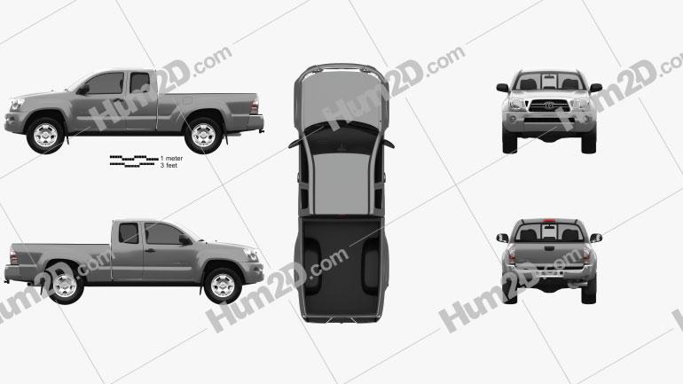 Toyota Tacoma Access Cab 2011 Clipart Image