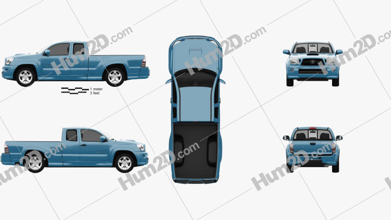 Toyota Tacoma XRunner 2011 car clipart
