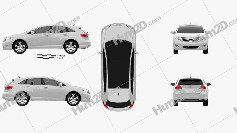 Toyota Venza 2011 car clipart